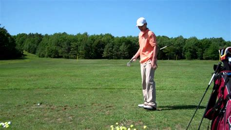 left handed golf swing hitting a draw then a fade left handed golf swing