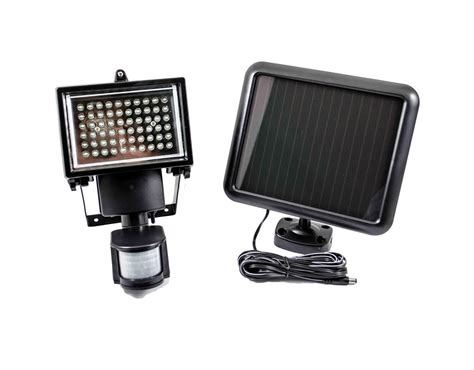 60 led solar powered security motion light detector ebay