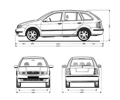 Skoda Fabia Combi 1999 Blueprint