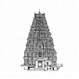 Temple Architecture Drawings More Landmark Drawings ...
