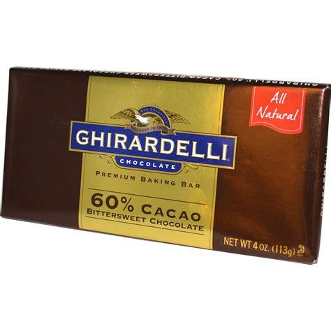 bittersweet chocolate ghirardelli premium baking bar 60 cacao bittersweet chocolate 4 oz 113 g iherb com