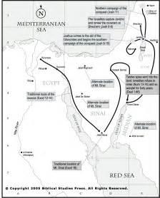 Old Testament Bible Maps Exodus