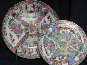 hand-painted famille rose Chinese porcelain, large charger