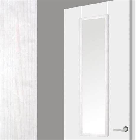 miroir pour la porte en bo 238 s decape blanc 37x2x128 cm blanc achat vente miroir soldes
