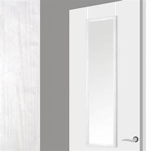 Miroir Adhésif Pour Porte : miroir pour la porte en bo s decape blanc 37x2x128 cm blanc achat vente miroir soldes ~ Melissatoandfro.com Idées de Décoration
