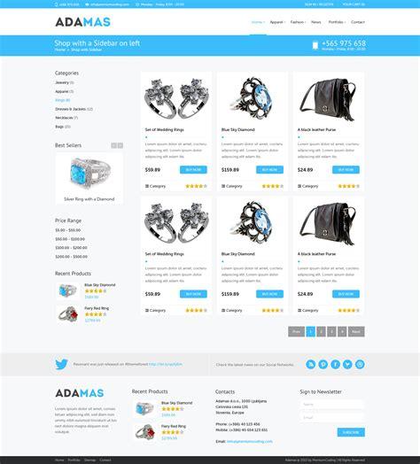 Template Webstore Free by Freebie Adamas Ecommerce Website Psd Template Premiumcoding