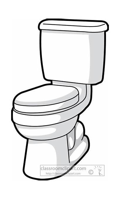 Toilet Bathroom Clipart Clip Funny Preschool Household
