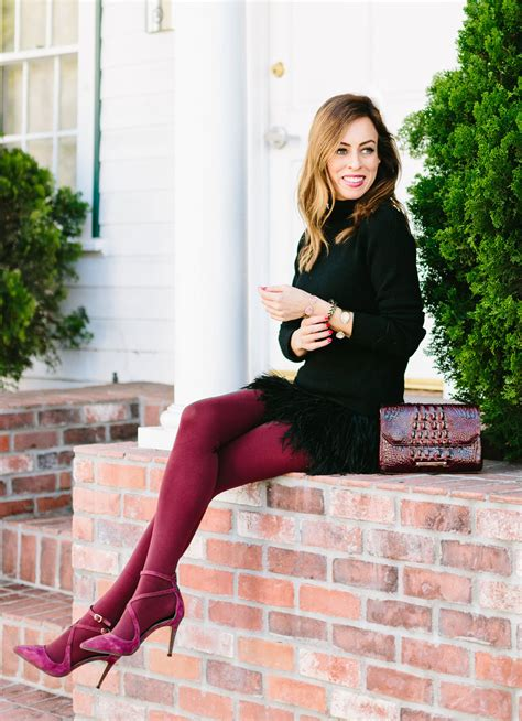 sydne summer shows christmas party outfit ideas  hue red tights sydne style