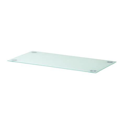 plateau de bureau en verre ikea glasholm plateau verre blanc ikea