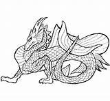 Dragon Sea Coloring Colorear Wyvern Dragons Template Coloringcrew Pages sketch template
