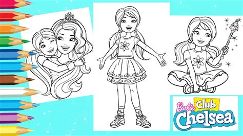 coloring barbie club chelsea coloring pages barbie dreamhouse coloring book youtube