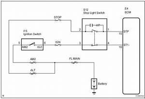 Toyota Sienna Service Manual  Brake Switch  U0026quot A U0026quot  Circuit