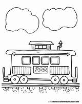 Caboose Clipart Train Coloring Pages Sheets Clip Line Clipartion Colormountain Give Comments Activity sketch template