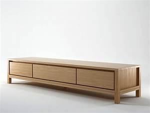 SOLID Wooden TV cabinet By KARPENTER design Hugues Revuelta