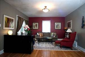 Burgundy Living Room Color Schemes With Traditional Rug