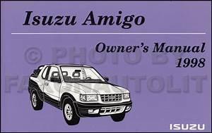 1998 Isuzu Amigo Repair Shop Manual Original Set
