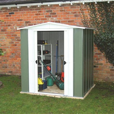 6x5 Shed Door by Metal 6x5 Apex Shed By Protech Direct