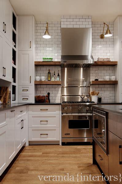 subway tile  dark grout contemporary kitchen