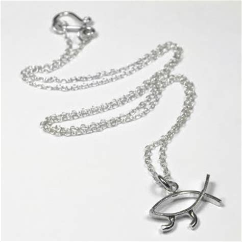 Darwin necklace traumspuren frosty mint darwin fish necklace by alphabetti spaghetti aloadofball Image collections