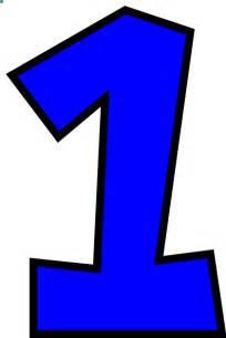 Blue Number 1 Clip Art