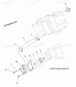 Polaris Atv 2008 Oem Parts Diagram For Engine  Water Pump