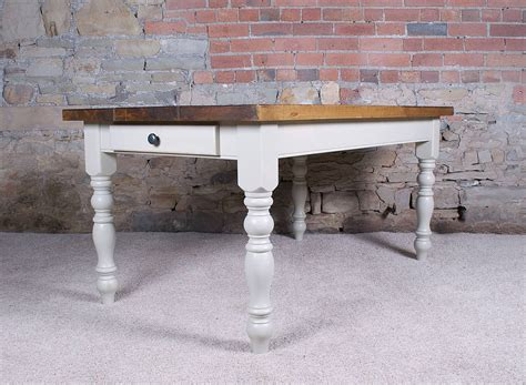 solid wood farmhouse table solid wood vintage farmhouse table by h f
