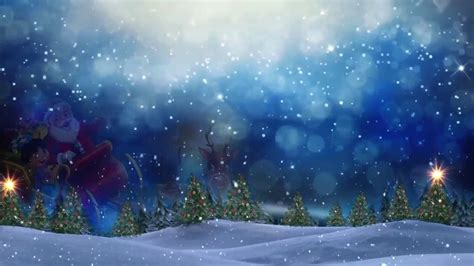 snow falling motion effect christmas background video
