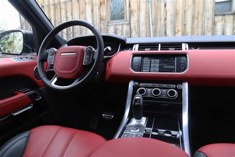 white range rover  red interior  blog wallpapers