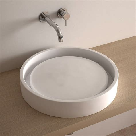 vasque 224 poser ronde 50 cm c 233 ramique asako