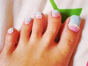 Red toe nail art images pictures becuo