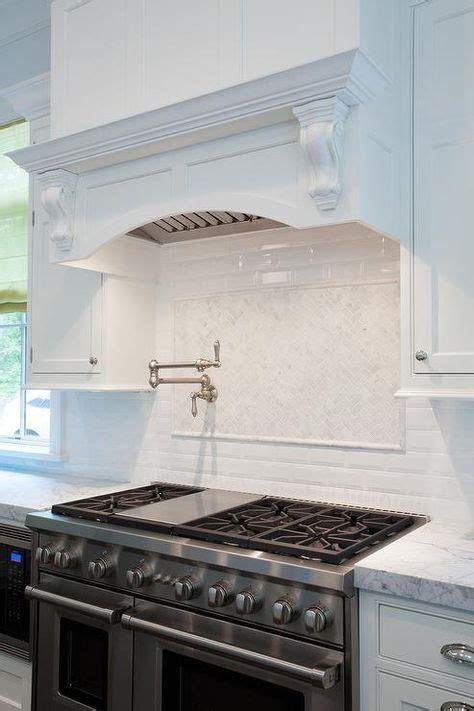 trendy kitchen tile stove pot filler kitchen