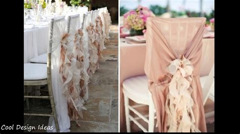 diy simple wedding chair decorations youtube