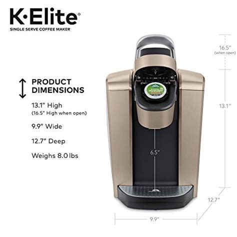 The patented extraction technology known as centrifusion works by inserting a capsule (aka a super fancy coffee pod) that, when activated. Keurig K-Elite Coffee Maker, Single Serve K-Cup Pod Coffee Brewer, With Iced Coffee Capability ...