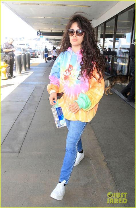 Camila Cabello Wears Her Tie Dye Sweatshirt Again For