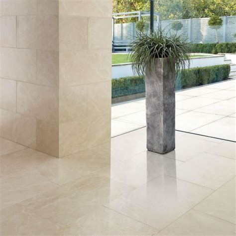 Crema Marfil Polished Marble Antiqued Tiles Marshalls