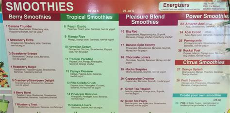 Garden Fresh Grill & Smoothie Menu   Evan's Menus