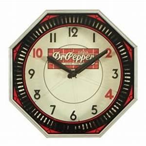 Dr Pepper Neon Clock