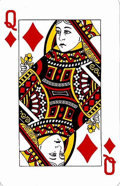 Queen Diamonds Cards English Playing