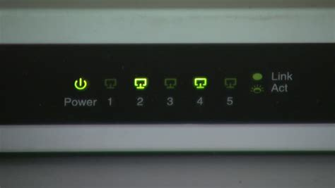 Router Lights Blinking by Blinking Led On The Device Stock Footage 4081399
