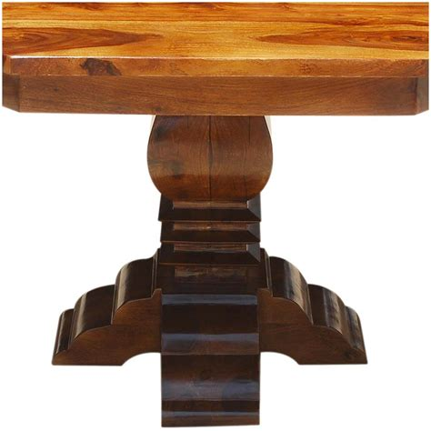 Contemporary Octagon Solid Wood Sutton Pedestal Dining Table