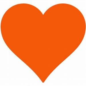 Simple Orange Heart clip art - Polyvore
