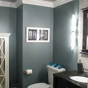 blue gray bathroom love this color paint schemes With blue and gray bathroom designs