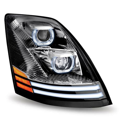 volvo vnl led projector headlight assembly passenger side