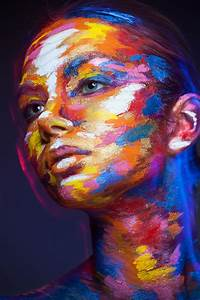 2D or Not 2D, Photos of Faces Painted With Colorful ...