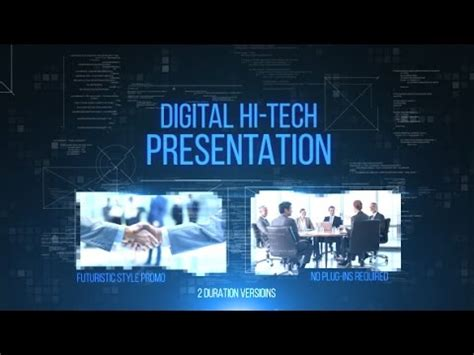 digital  tech   effects template youtube