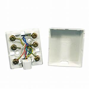 Leviton 6p6c Surface Mount Phone Jack  White