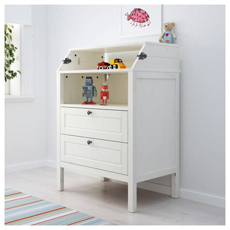 ikea baby change table sundvik changing table chest of drawers white ikea