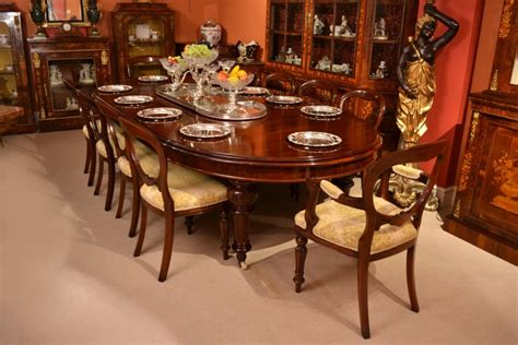vintage dining tables for antique 10ft dining table c 1870 10 chairs 8829