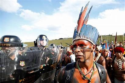 Indigenous Brazilian Police Latin American Protest Land