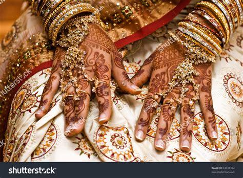 mehndi application henna skin decoration indian stock